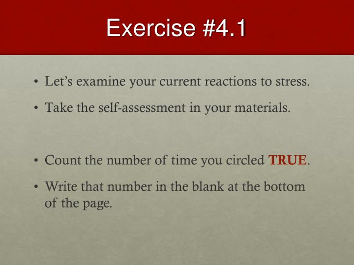 Exercise #4.1