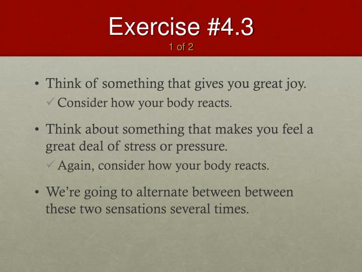 Exercise #4.3