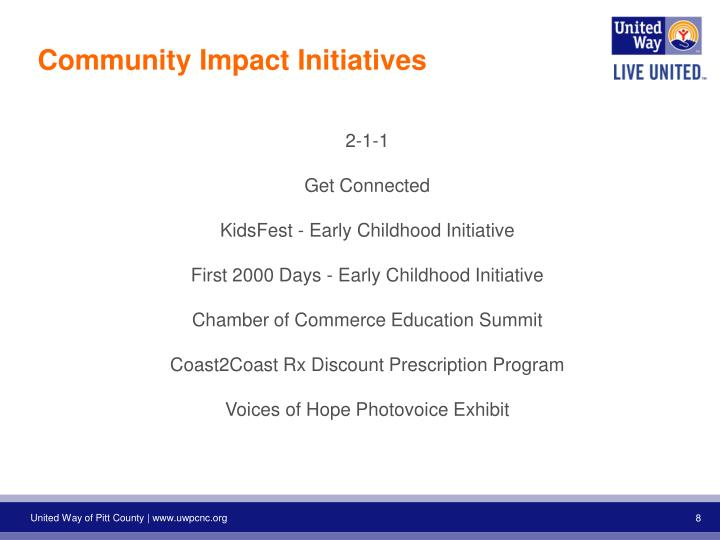 Community Impact Initiatives