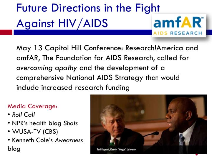 Future Directions in the Fight Against HIV/AIDS