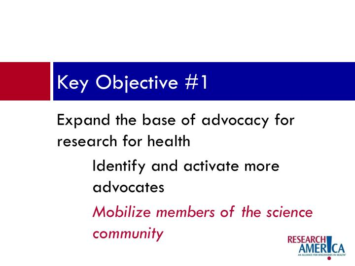 Key Objective #1