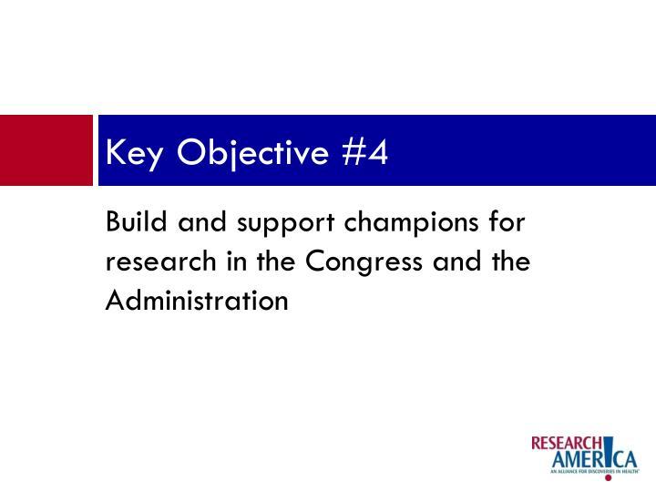 Key Objective #4