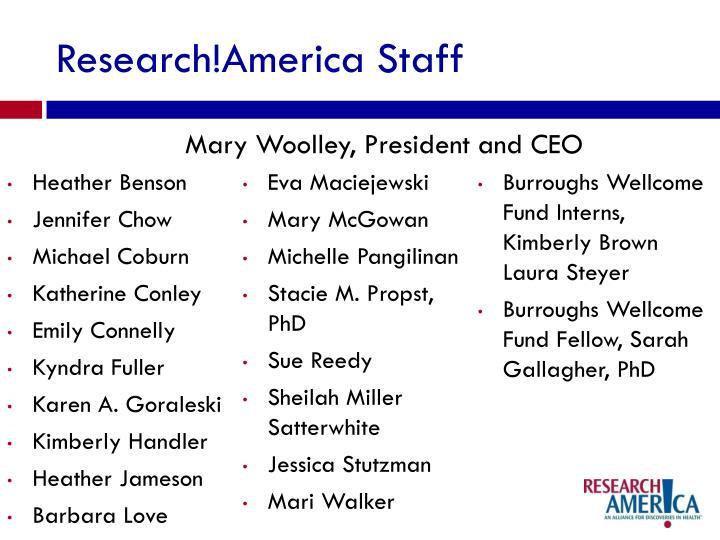 Research!America Staff