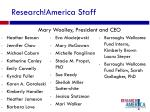 research america staff