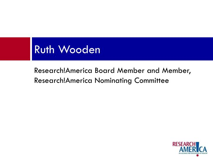 Ruth Wooden