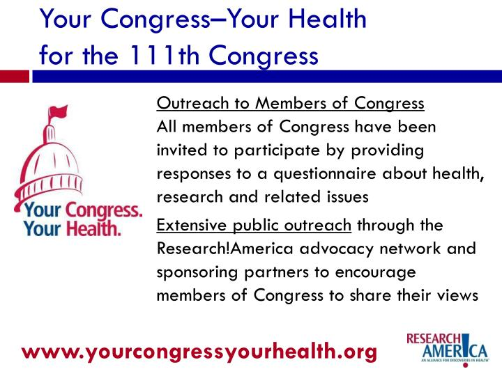 Outreach to Members of Congress