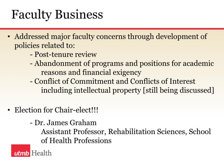 Faculty Business