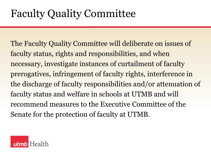 Faculty Quality Committee