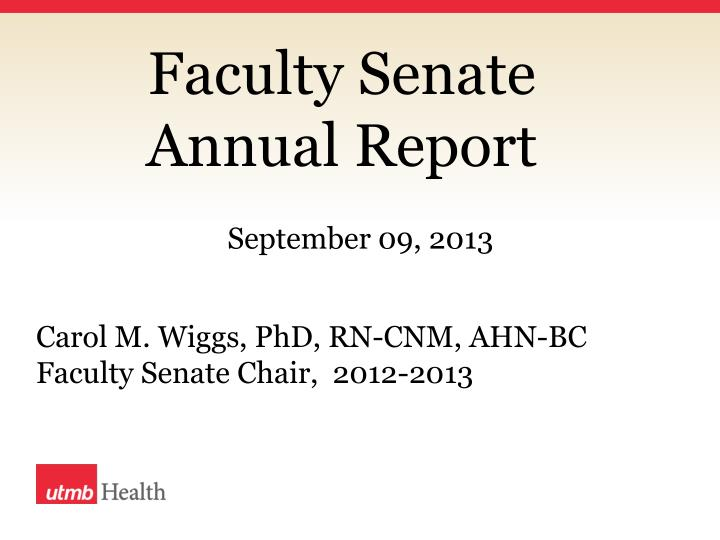 Faculty senate annual report