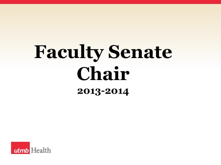Faculty Senate Chair