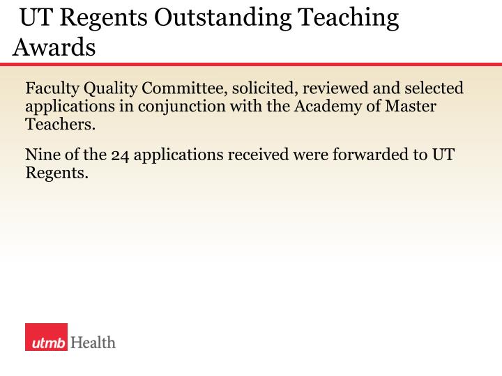 UT Regents Outstanding Teaching