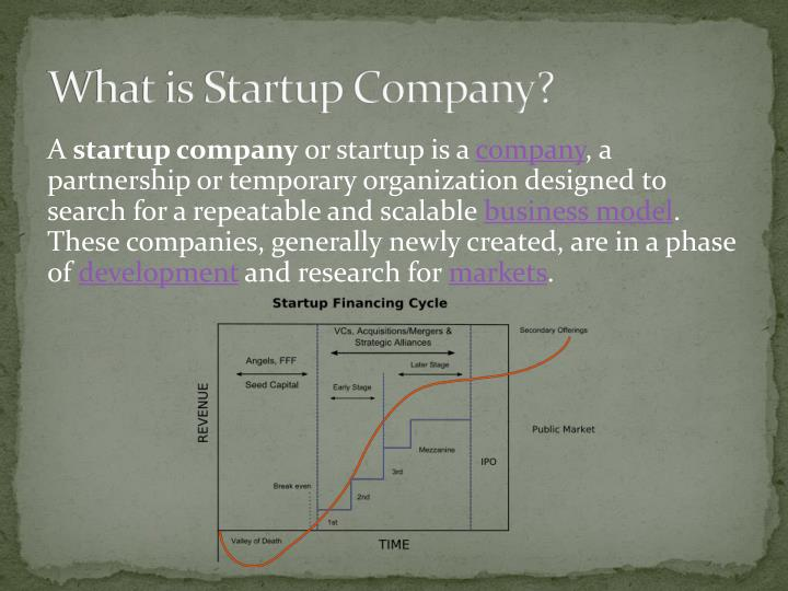 What is Startup Company?