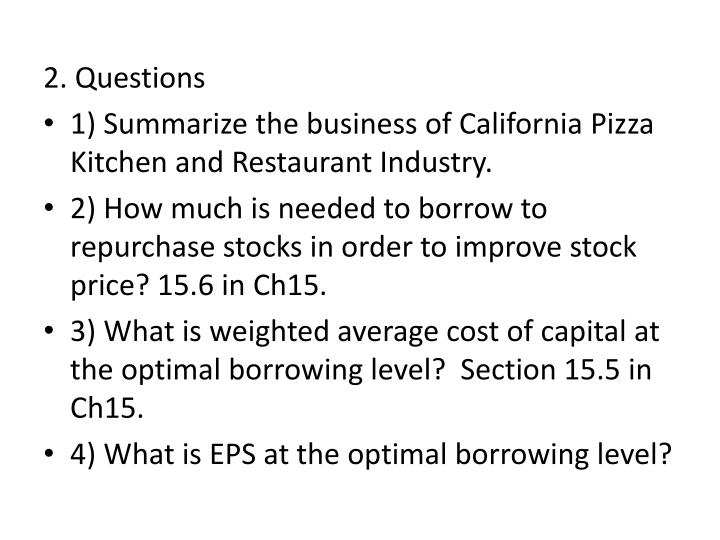 2. Questions