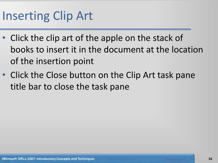 Inserting Clip Art
