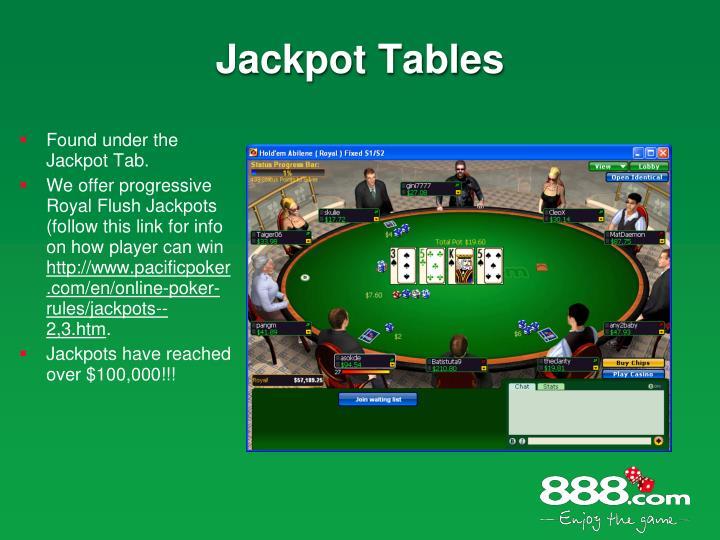 Jackpot Tables