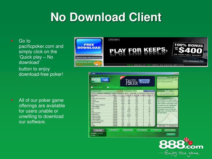 No Download Client