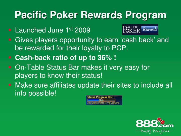 Pacific Poker Rewards Program