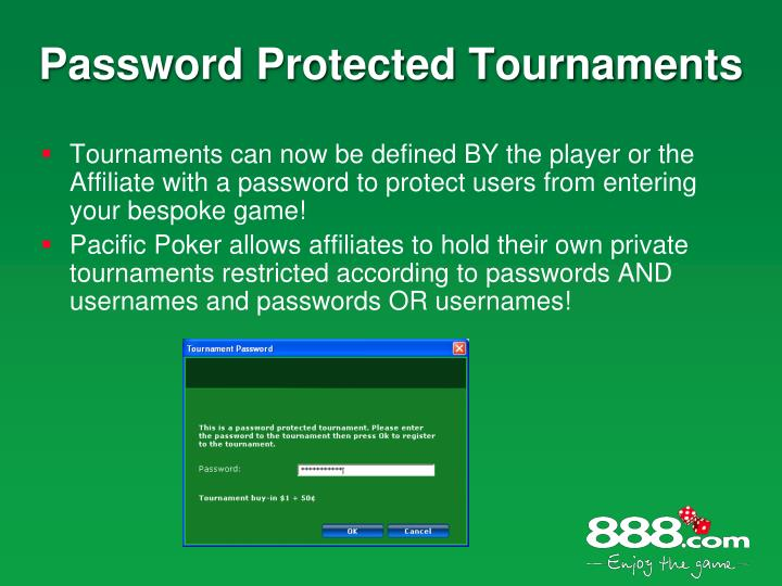 Password Protected Tournaments