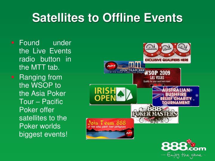 Satellites to Offline Events