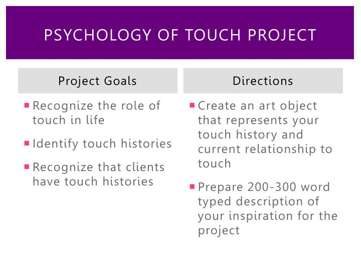 Psychology of Touch Project