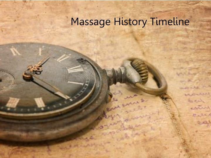 Massage History Timeline