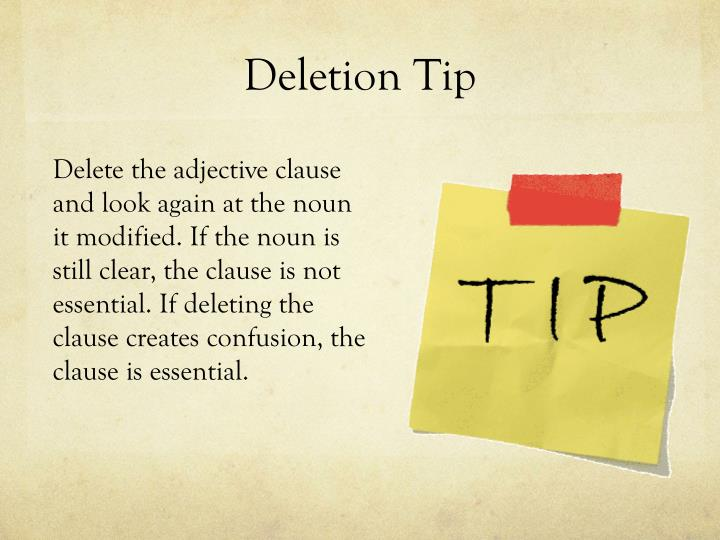 Deletion Tip