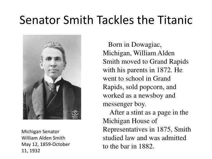 Senator Smith Tackles the Titanic