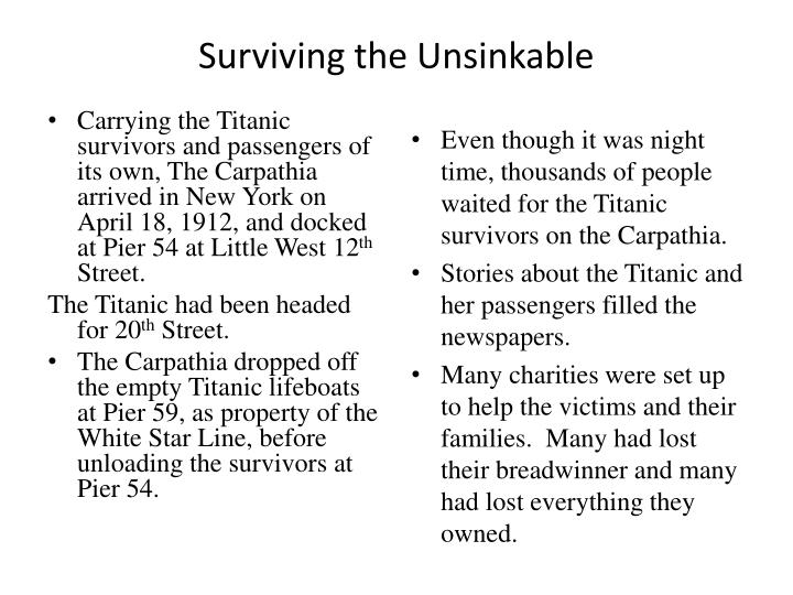 Surviving the Unsinkable
