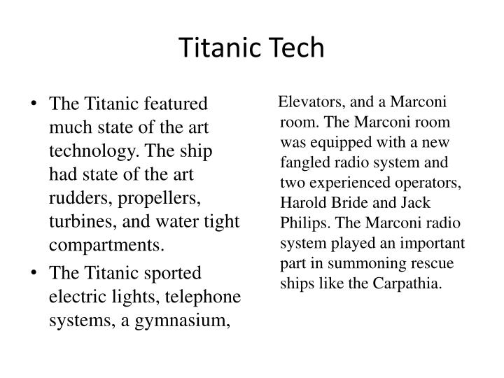 Titanic Tech