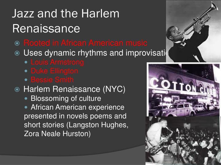Jazz and the Harlem Renaissance