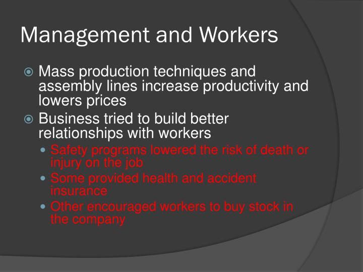 Management and Workers