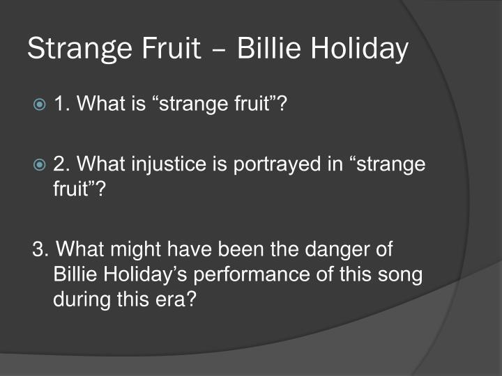 Strange Fruit – Billie Holiday
