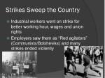strikes sweep the country