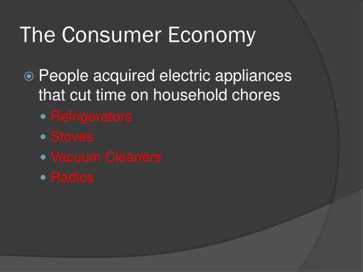 The Consumer Economy