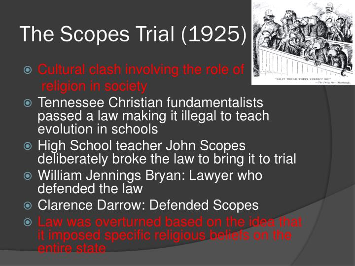 The Scopes Trial (1925)