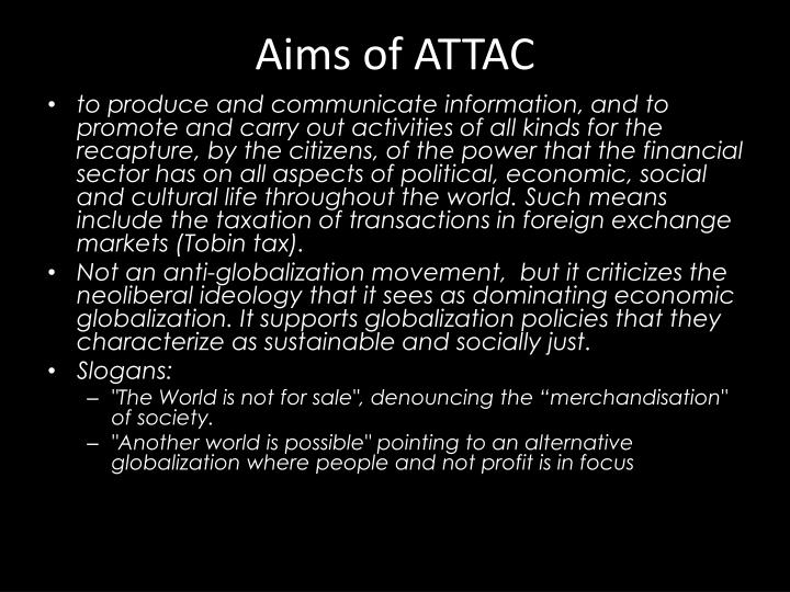 Aims of ATTAC