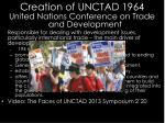 creation of unctad 1964