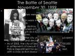 the battle of seattle november 30 19991