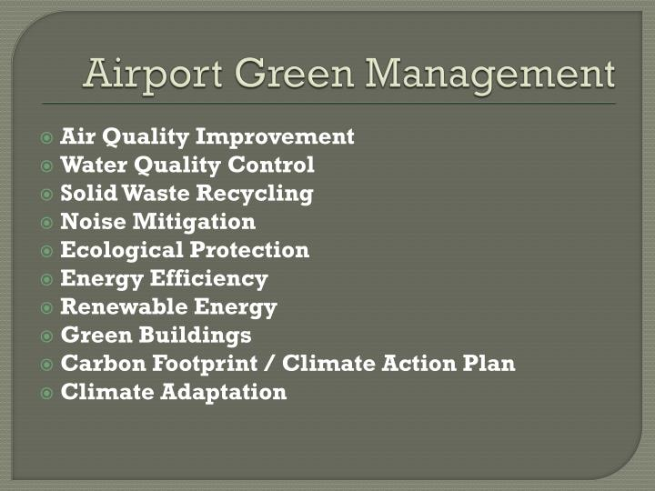 Airport Green Management