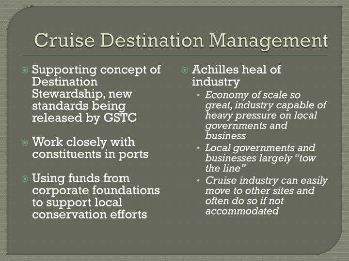 Cruise Destination Management