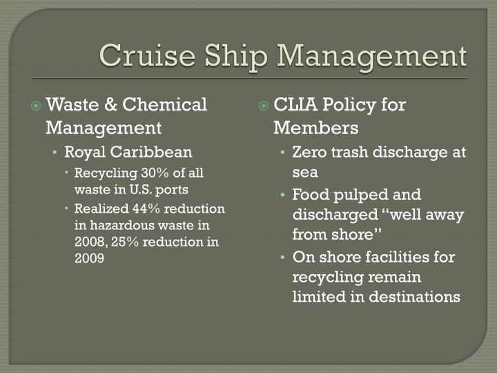 Cruise Ship Management