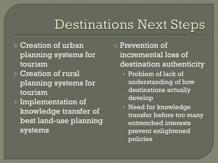 Destinations Next Steps
