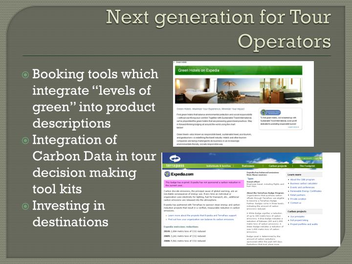 Next generation for Tour Operators