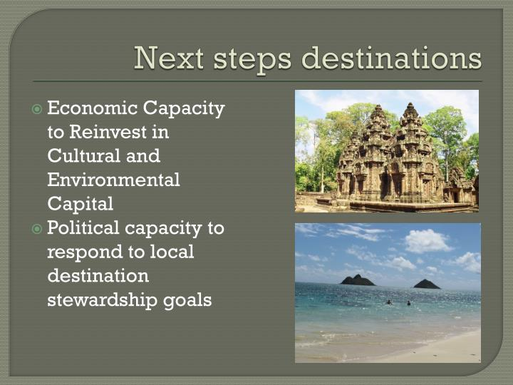 Next steps destinations