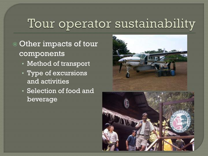 Tour operator sustainability