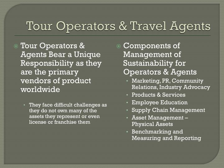 Tour Operators & Travel Agents