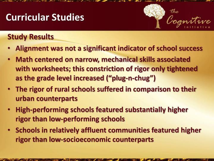 Curricular Studies