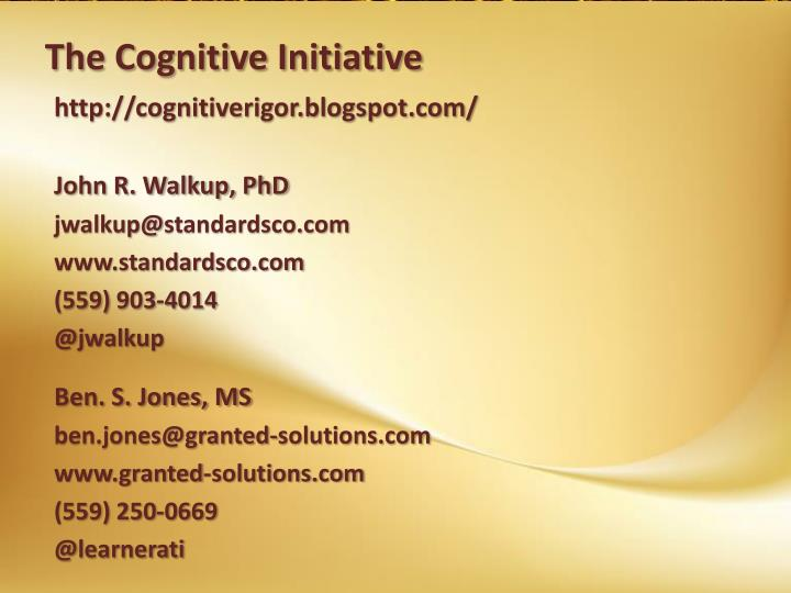 The Cognitive Initiative