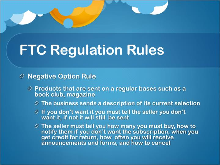 FTC Regulation Rules
