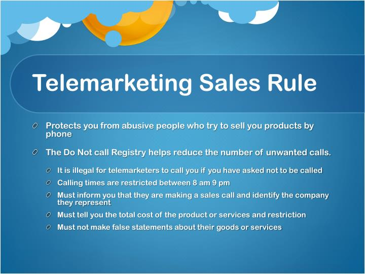 Telemarketing Sales Rule